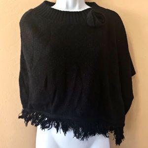 Vintage Asymmetrical Sweater Poncho